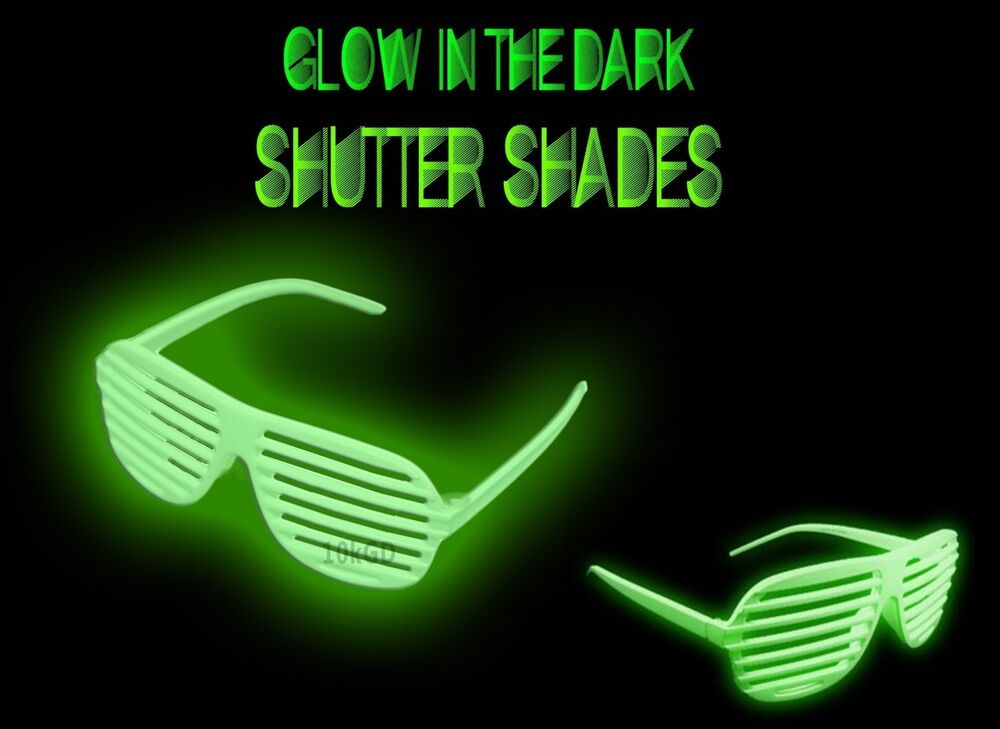 Shutter Shades 12 Glow In The Dark Sunglasses Cool Fun