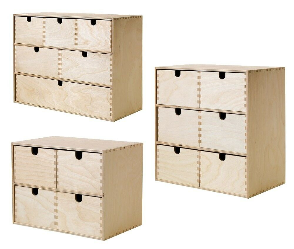 ikea moppe mini kommode holz schubladen minikommode kommode aus birkensperrholz ebay. Black Bedroom Furniture Sets. Home Design Ideas