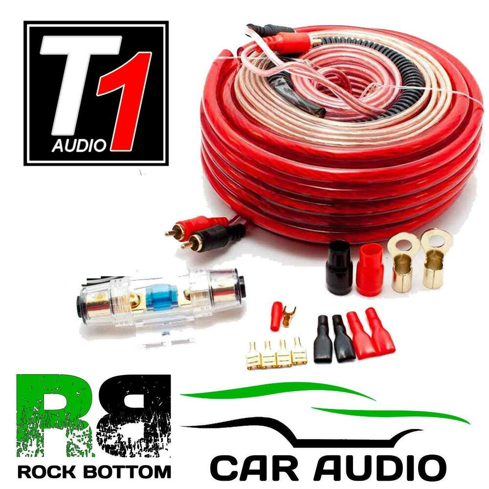 CALIBER CPK20 1500 Watts 4 AWG Gauge Car Complete Amplifier Amp Wiring  Cable Kit | eBay
