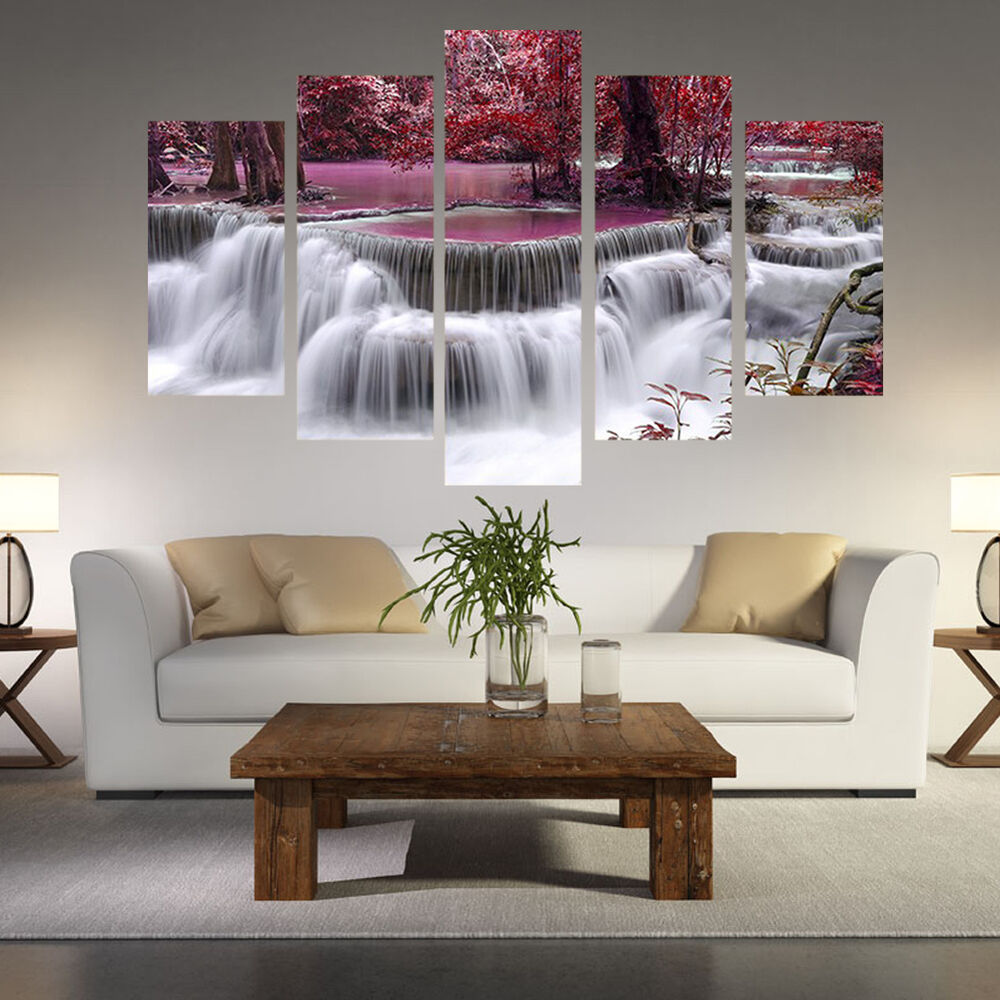 5 Pcs Brooks Oil Painting Printed On Canvas For Living Room Wall Art Pictures Ebay