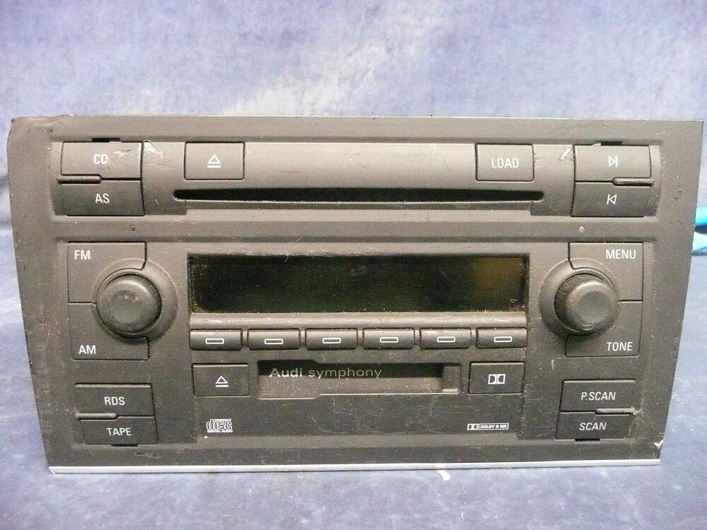 used audi a4 a6 s4 symphony ii stereo 6 cd player changer. Black Bedroom Furniture Sets. Home Design Ideas