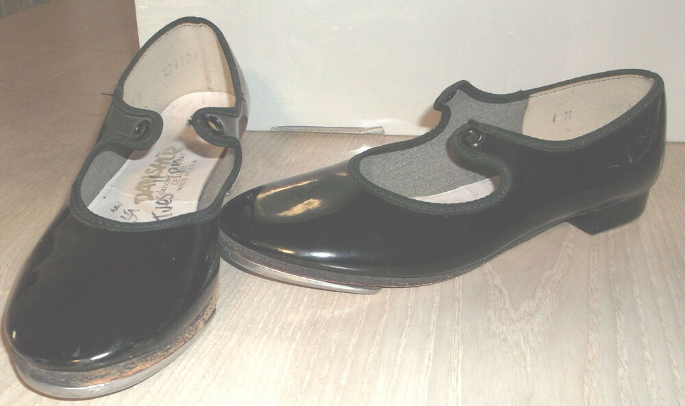 Childrens Black Patent Tap Shoes