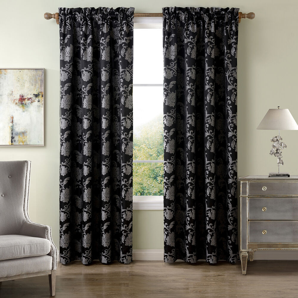 Sanctuary Lyon Jacquard 63 Inch Curtain Panel Ebay