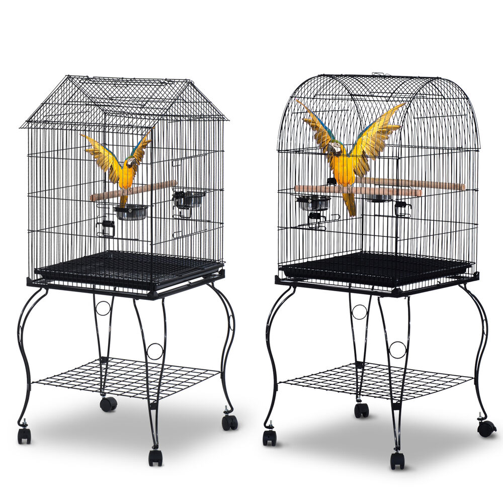 large bird cage pet aviary parrot macaw cockatiel finch feeding stand perch home ebay. Black Bedroom Furniture Sets. Home Design Ideas