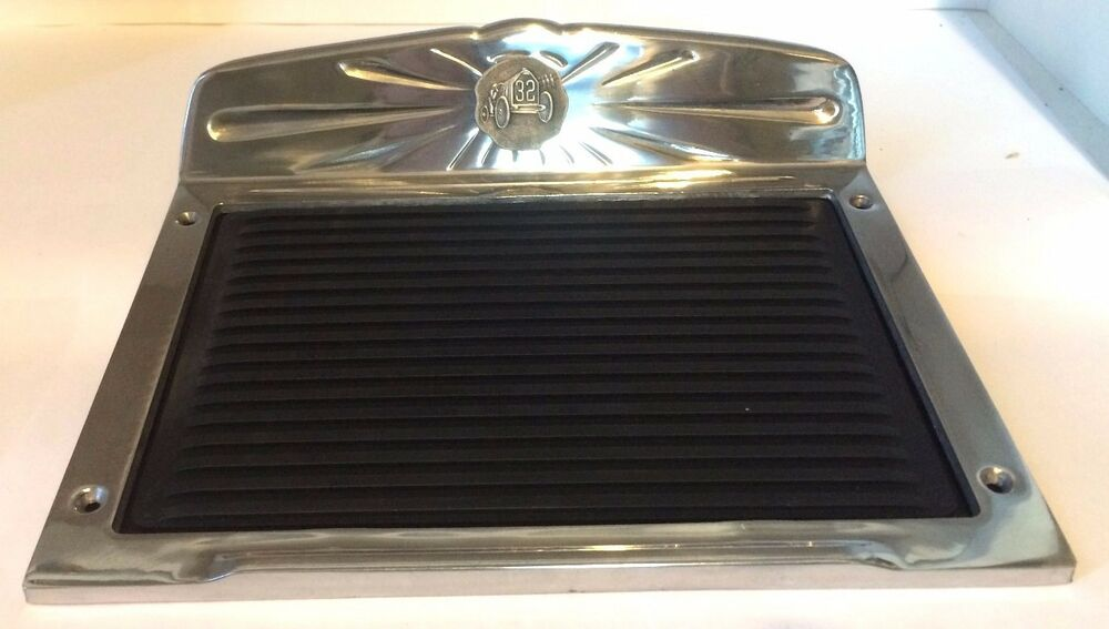 New Dodge Truck >> Flat Polished Deluxe Aluminum Running Board Step Plate w/ Rubber SET - 32 Racer | eBay