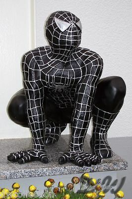 spiderman figur gro schwarz deko kino film skulptur werbung comic spinne garten ebay. Black Bedroom Furniture Sets. Home Design Ideas