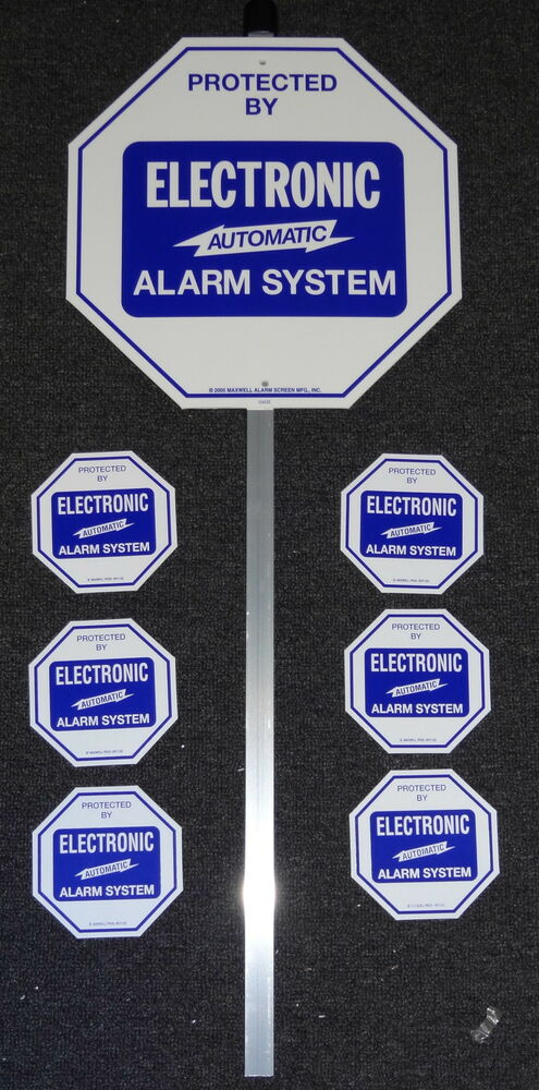 Security System Alarm Yard Lawn Sign Amp Stake With 6 Door
