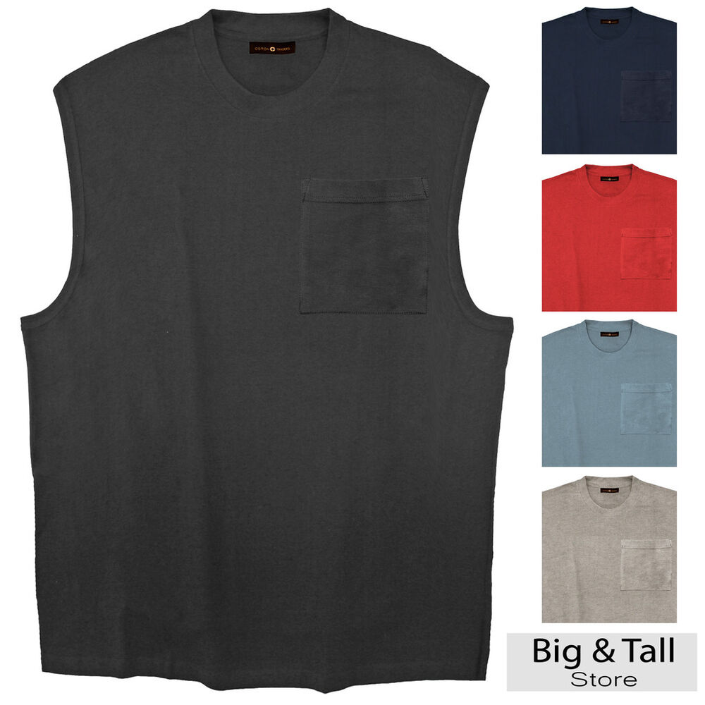 Big Tall Men 39 S Pocket Muscle Tee By Cotton Traders 3xl