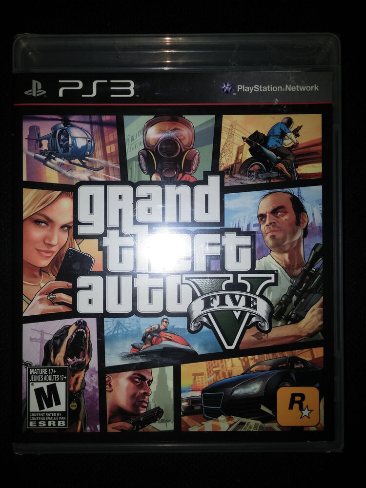 ps3 grand theft auto v 5 game brand new factory sealed. Black Bedroom Furniture Sets. Home Design Ideas