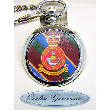 img-THE SHROPSHIRE LIGHT INFANTRY BADGE POCKET WATCH FREE KEYRING ARMY MILITARY GIFT