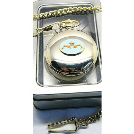img-THE ROYAL NAVY SUBMARINERS BADGE MILITARY POCKET WATCH CHAIN BOXED GIFT RN NAVAL