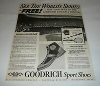 1936 Goodrich Sport Shoes ad page ~ SEE THE WORLD'S SERIES