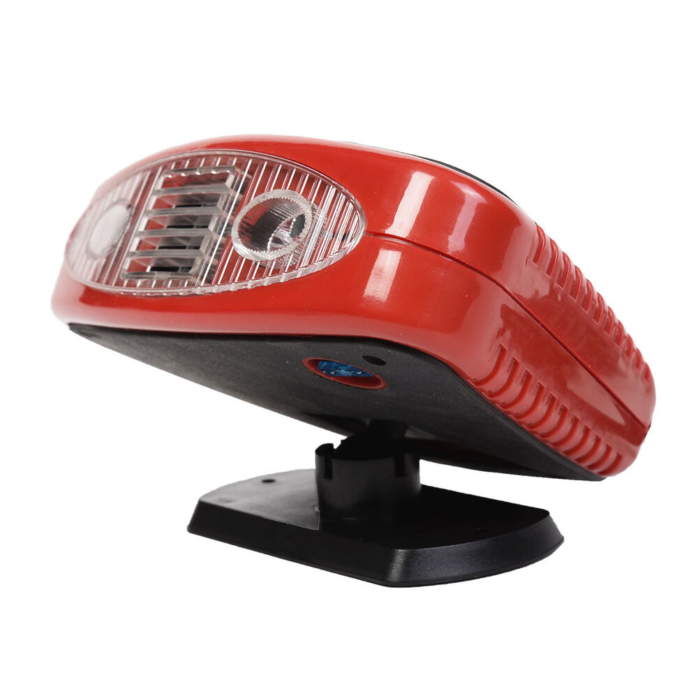 New 12 volt dc auto portable heater fan defroster with for 12v window fan