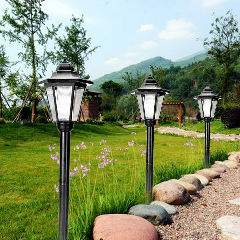 Patio Lights On Fence: Outdoor Solar Power LED Light Path Way Landscape Mount