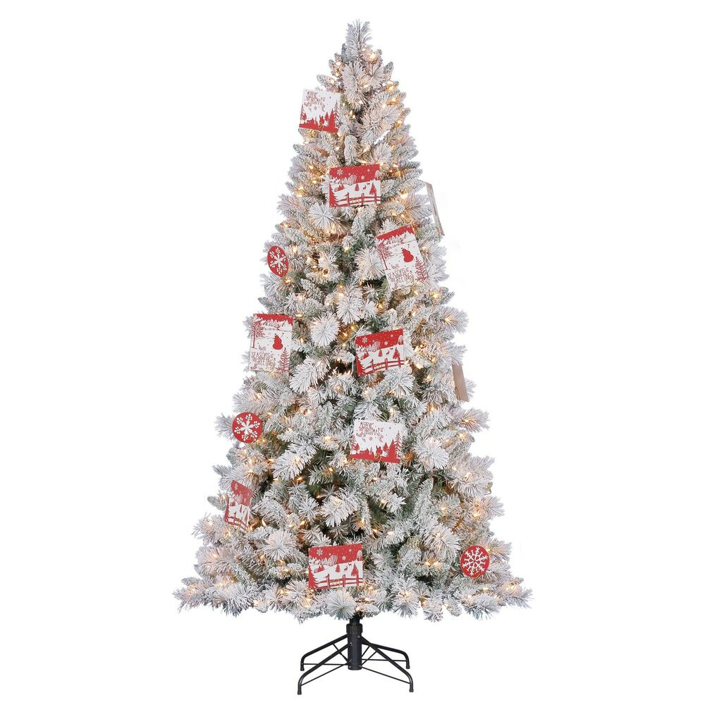 Hallmark artificial northern estate white flocked
