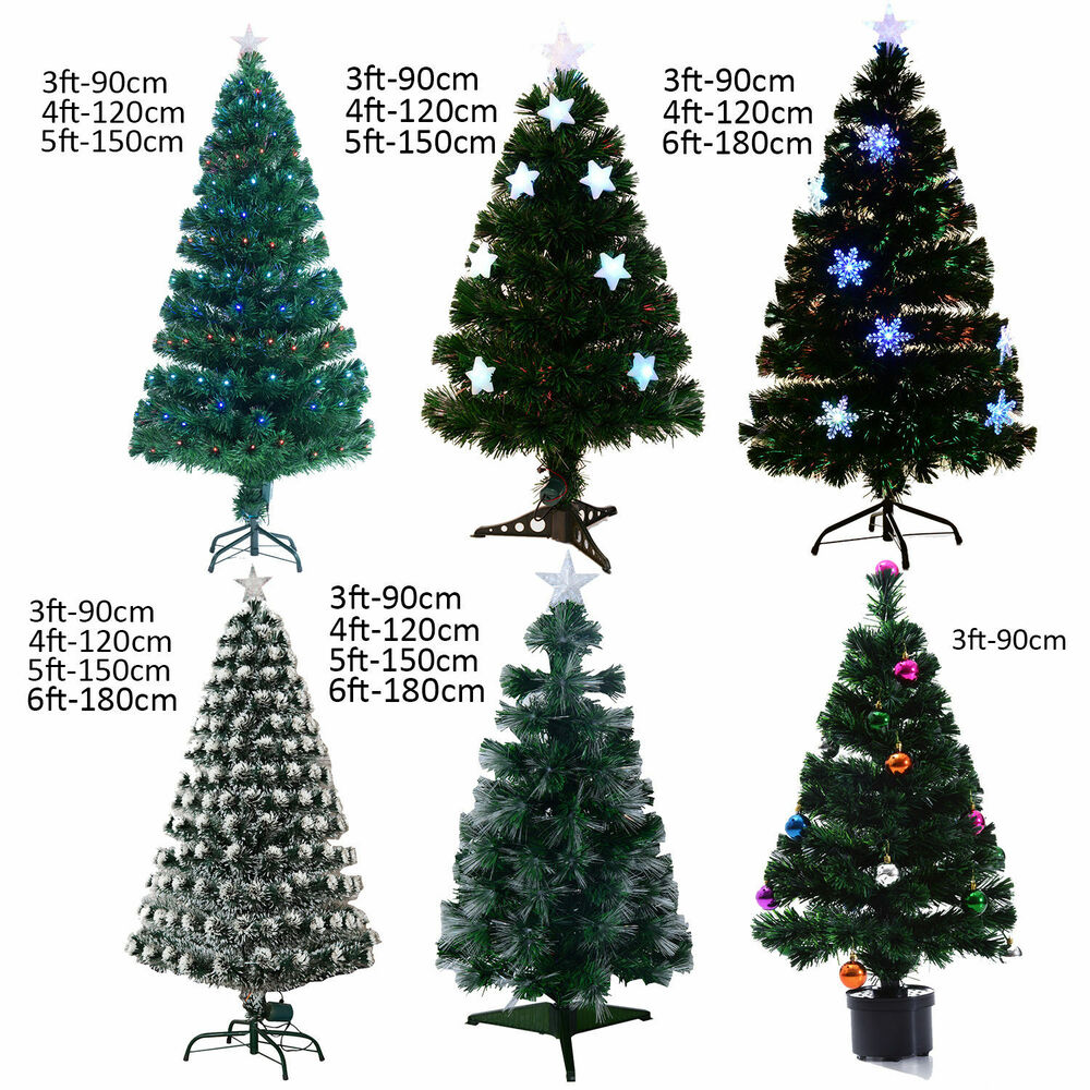 3ft 4ft 5ft 6ft Fibre Optic Artificial Christmas Tree Led