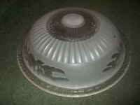 Vintage Decorative Ceiling Light Fixture Clear Frosted  Glass Light Shade