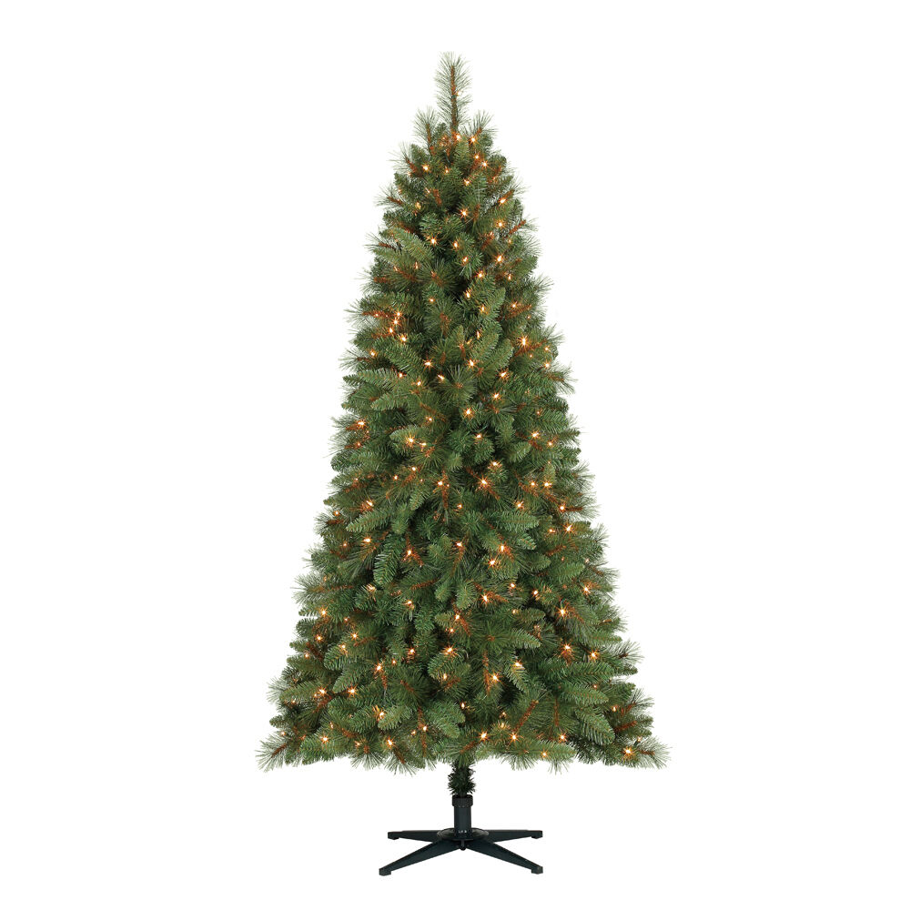 Home Heritage 6 5 Foot Crestwood Pine Christmas Tree With