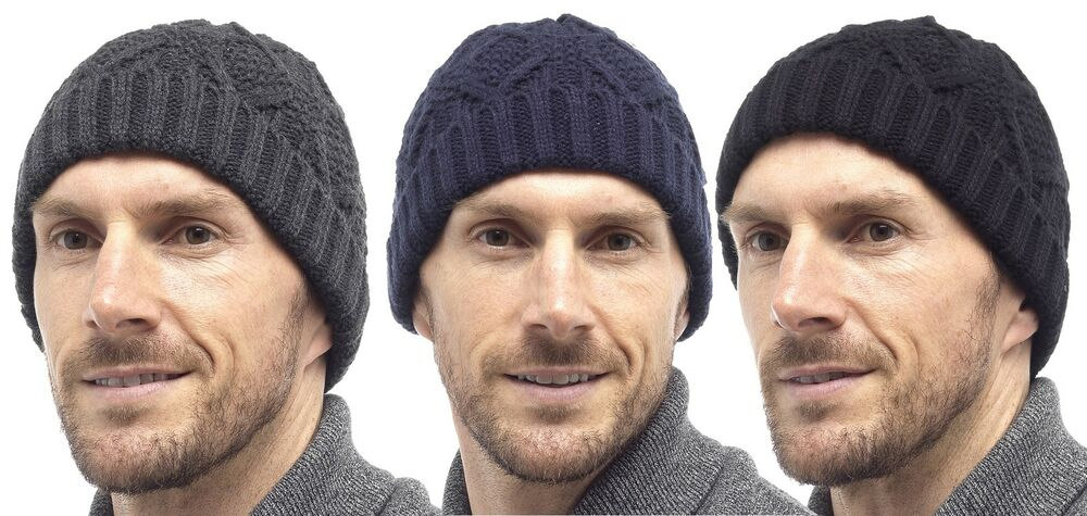 9a7b3f76a33 Details about RJM Tom Franks Mens Cable Knit Beanie Hat