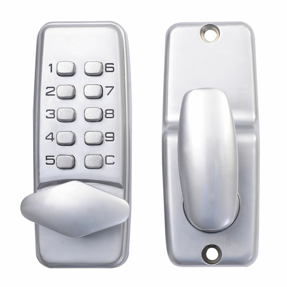 new keyless electronic code digital keypad security entry door lock us ship ebay. Black Bedroom Furniture Sets. Home Design Ideas