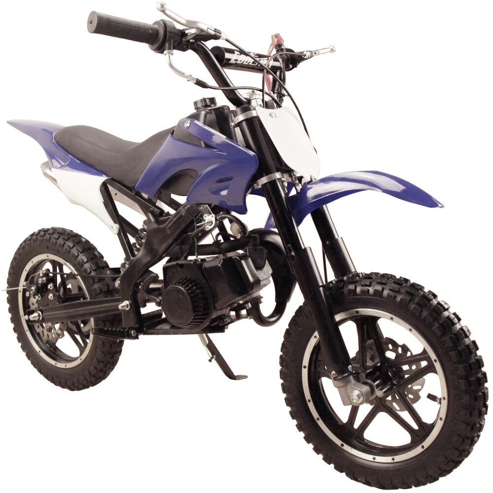 performance 49cc 2 stroke gas power mini pocket dirt bike free shipping blue ebay. Black Bedroom Furniture Sets. Home Design Ideas