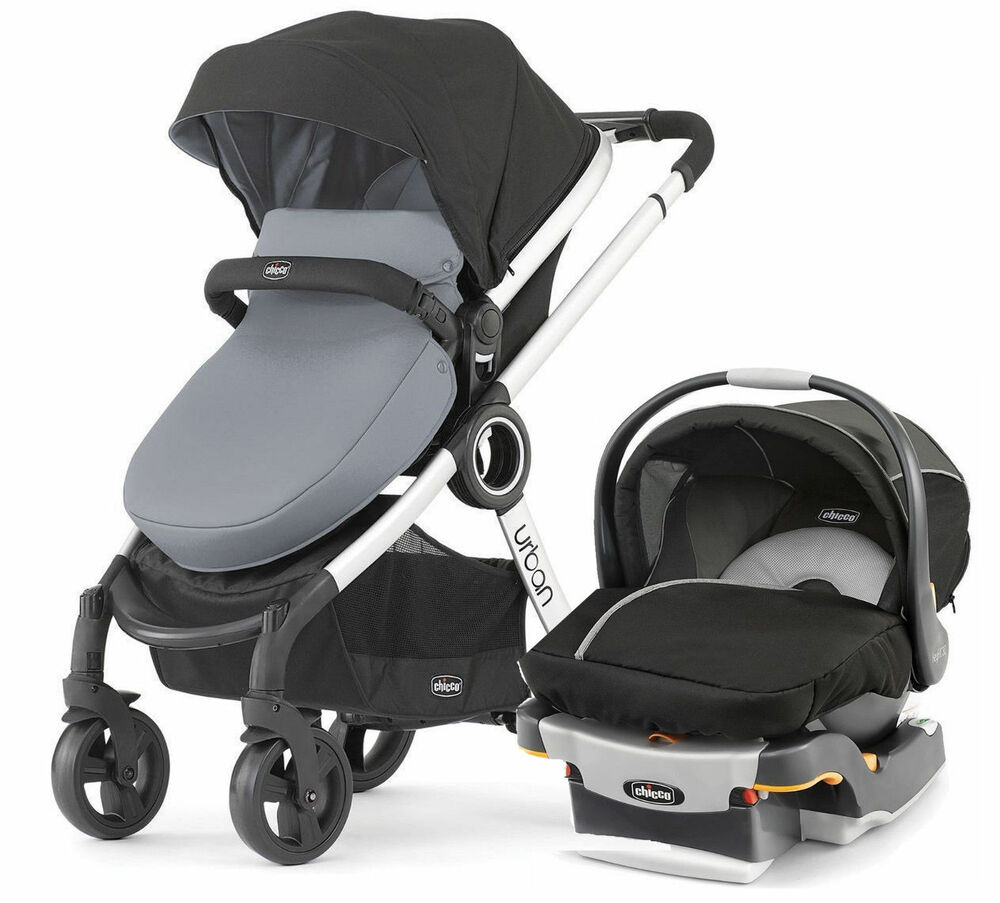 chicco urban 6 in 1 baby travel system baby stroller w keyfit 30 car seat coal 49796606751 ebay. Black Bedroom Furniture Sets. Home Design Ideas