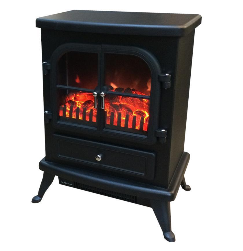 freestanding electric stove fire heater with log burning. Black Bedroom Furniture Sets. Home Design Ideas