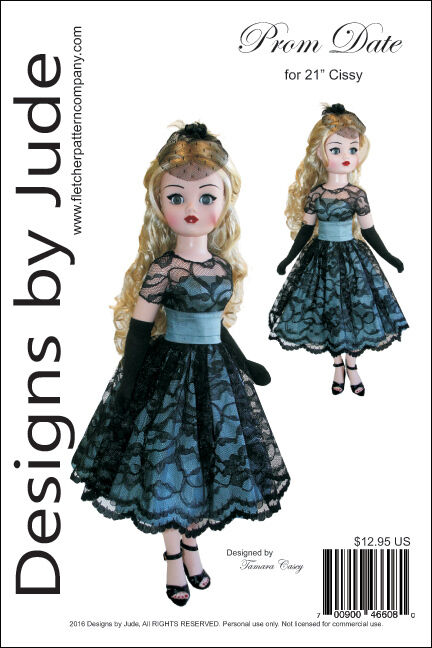 Prom Date Pattern for 21 Cissy Dolls Madame Alexander Clothing Patterns