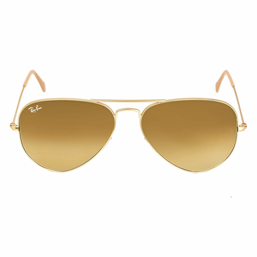 05ba0034011fa Details about Ray-Ban RB 3025 112-85 58 Unisex Gold Frame Brown Gradient  Lenses Sunglasses