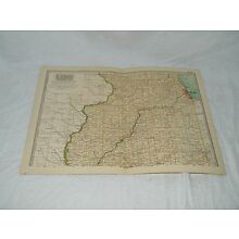 Vintage Northern Illinois Map THE CENTURY DICTIONARY AND CYCLOPEDIA 1906 18949