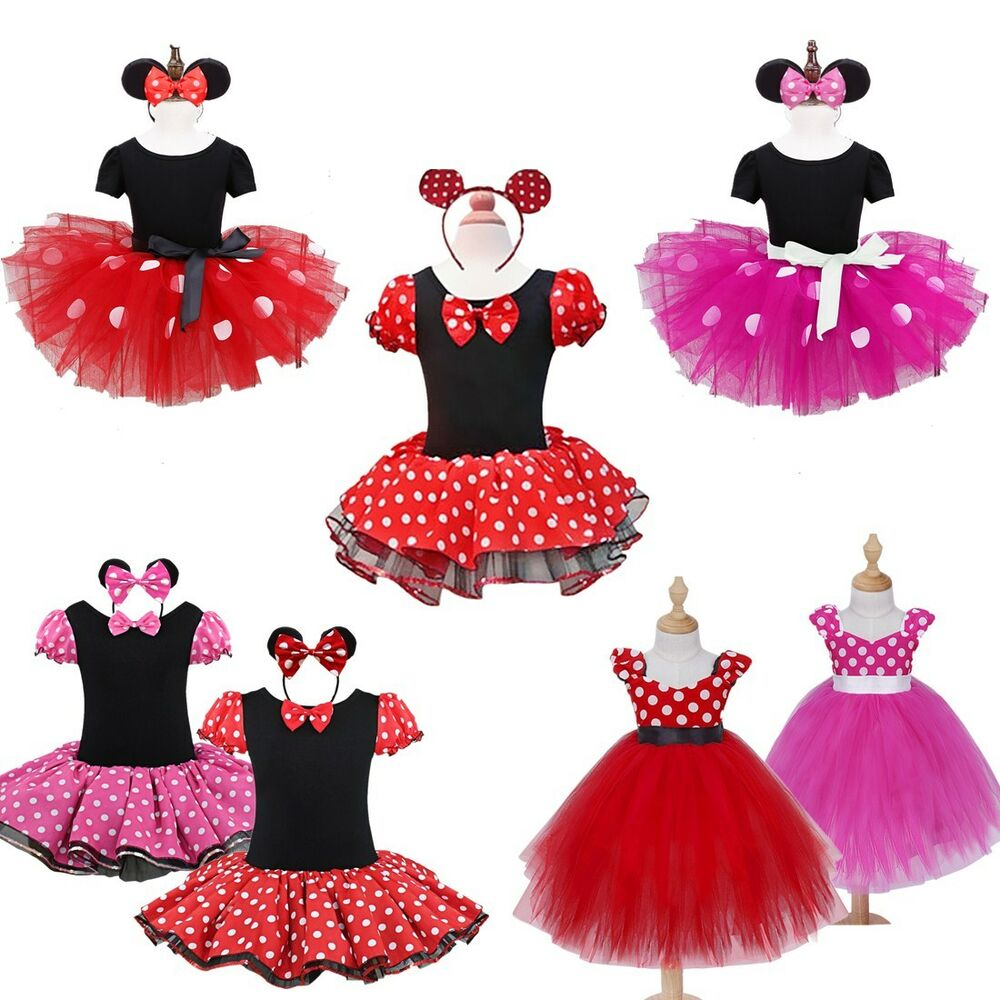 Toddler Tutus Toddler Tutu Outfits Toddler Birthday Tutus: Kids Girls Baby Toddler Minnie Mouse Outfits Party Costume