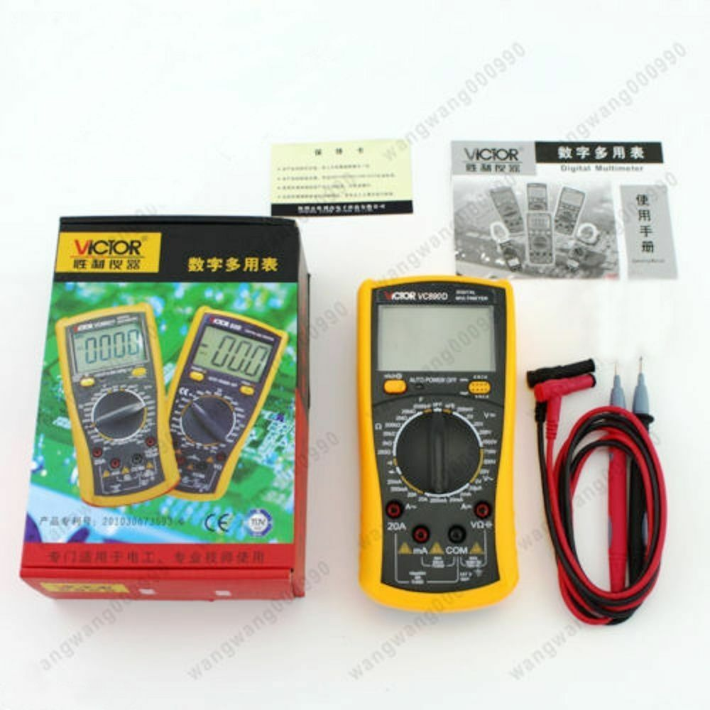 Check Ac Capacitor With Multimeter : Victor vc d digital multimeter true ohmmeter rms ac dc