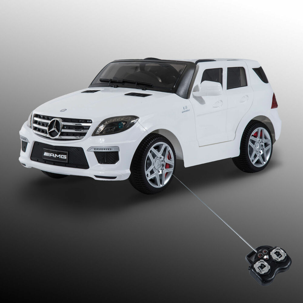 12v mercedes benz ml63 amg kids ride on car electric w for Mercedes benz kids