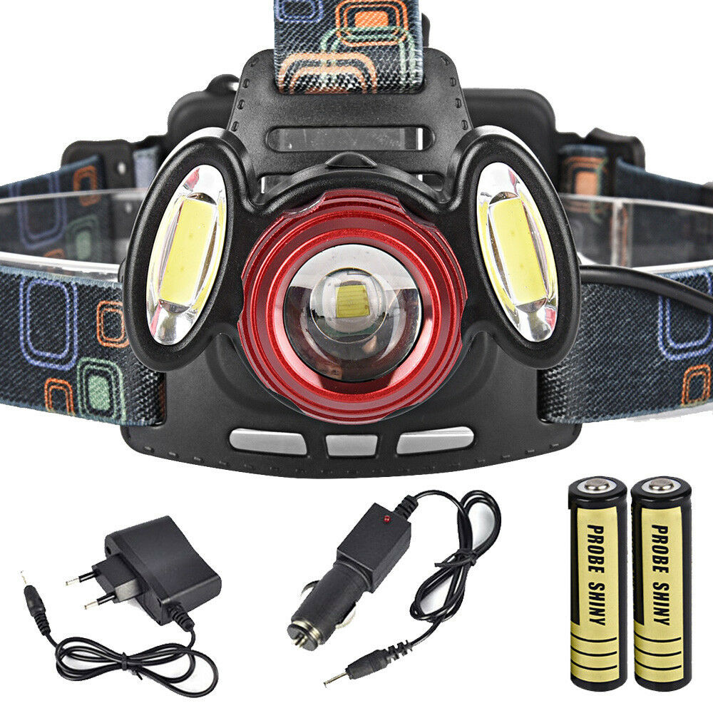 T6 LED Headlamp Inspection Headlight Torch Rechargeable Flashlight Hiking Camp