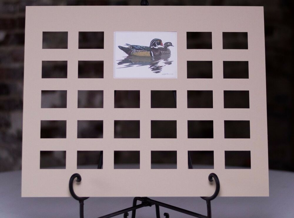 26 Stamp Die Cut Mat Designed For Duck Stamp Collectors