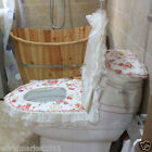 Lovely Style Practical Red S 45*32 CM Fabric Three-Piece Toilet Cover