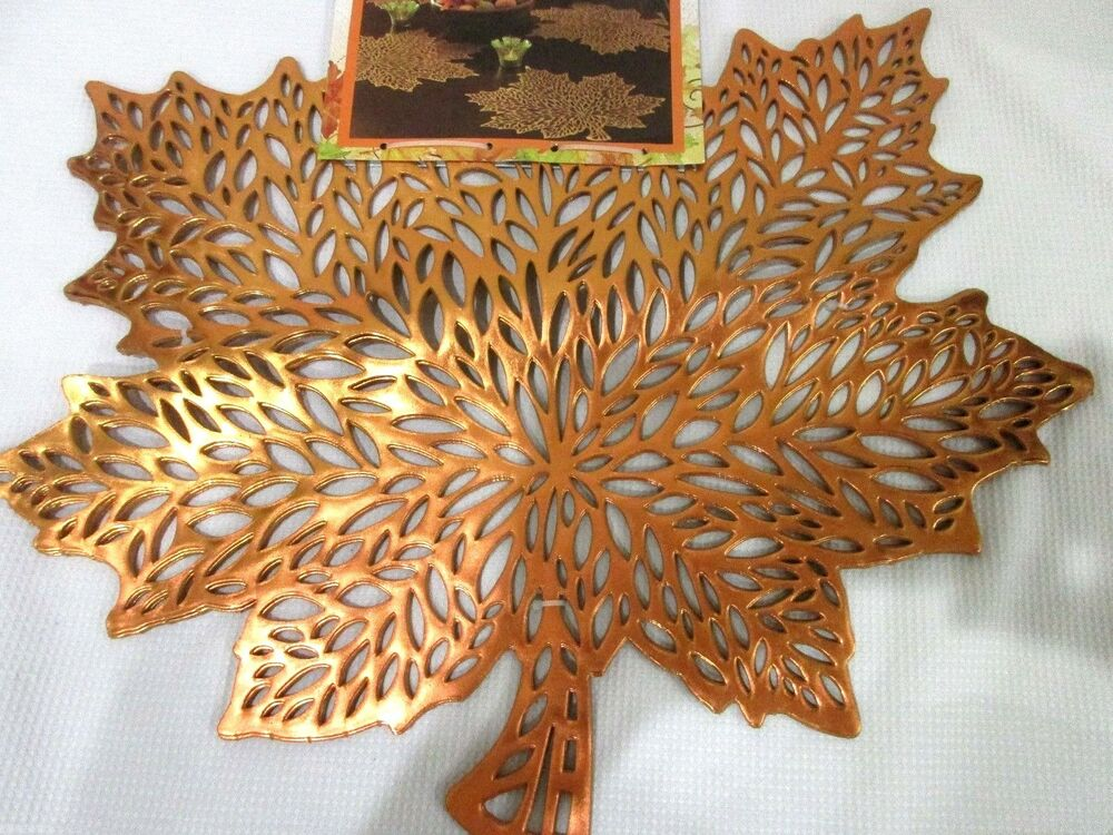 Fall Thanksgiving Vinyl Orange Maple Leaves Placemats  : s l1000 from www.ebay.com size 1000 x 750 jpeg 162kB