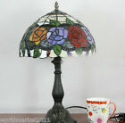 American Style Beautiful Rose Glass+Resin Height 49CM Decoration Table Lamp