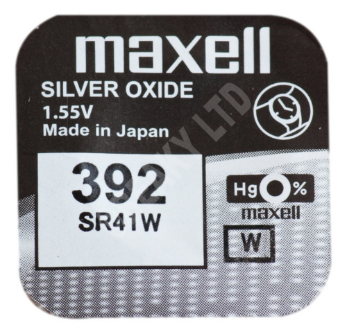 GENUINE Maxell 392 SR41W Silver Oxide Watch Battery 1.55v [1-pack]