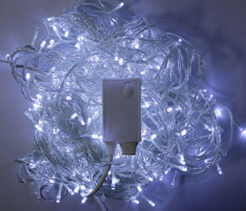 Plug In String Lights Indoor : 100/200//400 LED String Fairy Lights Indoor Xmas Christmas Tree Party UK Plug eBay