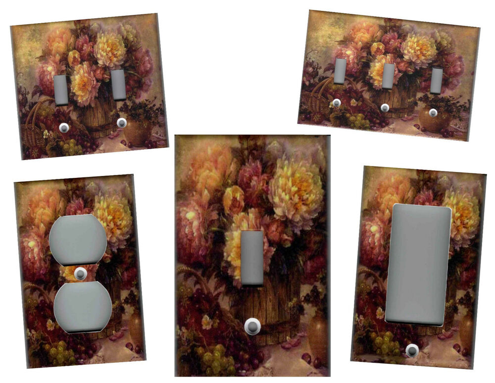 Victorian floral purple burgundy home wall decor light for Victorian wall decor