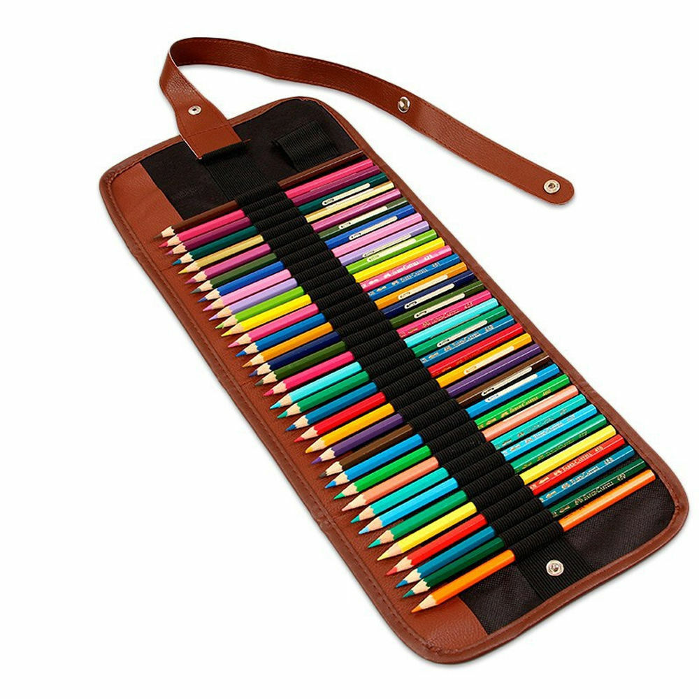 1x canvas roll pencil bag case paint brush art storage for Canvas roll for painting