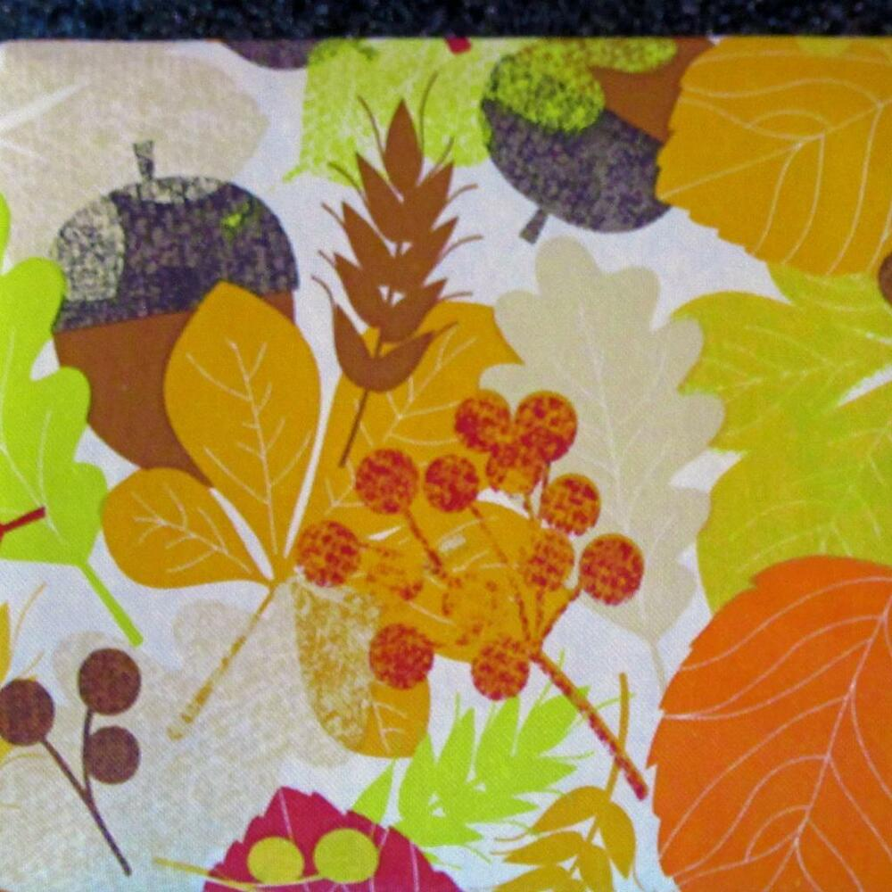 Fall Leaves Vinyl Tablecloth Flannel Back All Sizes