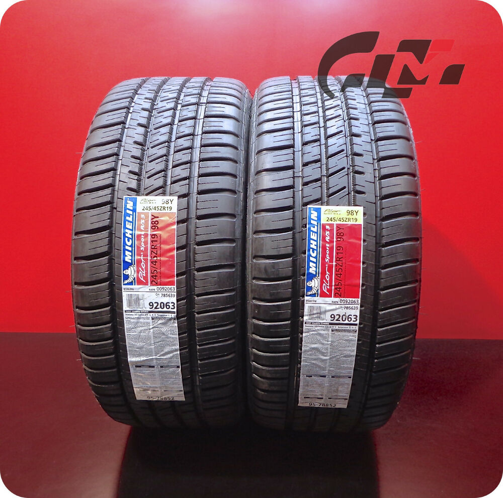 2 Brand New Michelin Tires 245 45 19 Zr Pilot Sport A S3