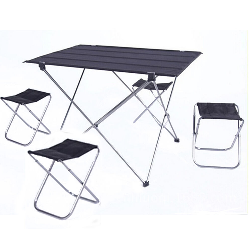 Portable Folding Aluminium Table Chair Camping Outdoor Fish Picnic Carry Ba