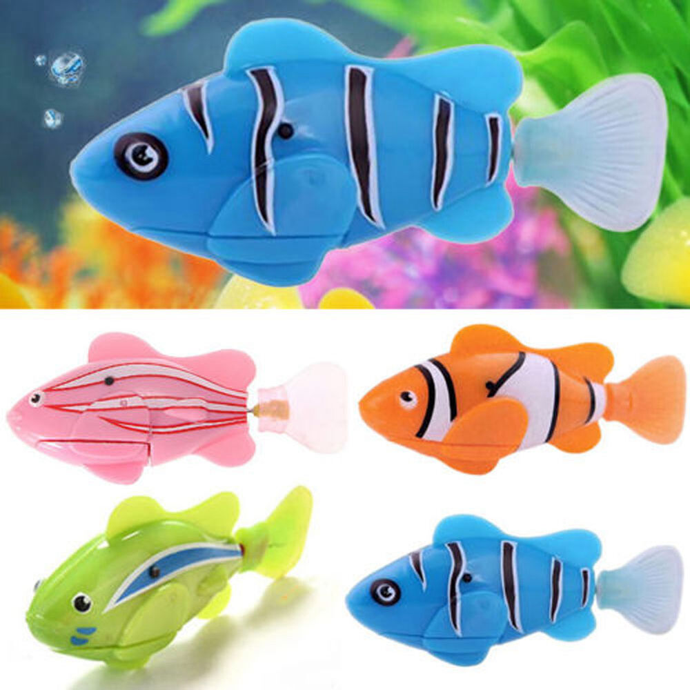 Fantastic fish robotic swimming robofish activated battery for Robo fish toy