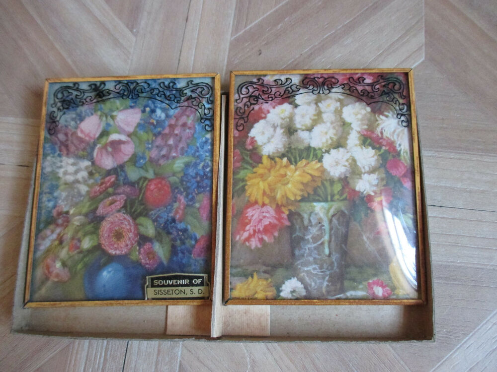 Vintage Reverse Painted Glass Mirrors