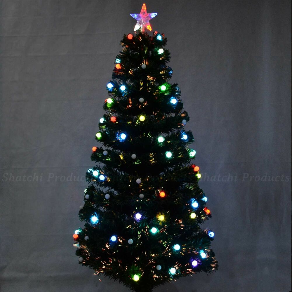 4ft -120cm Christmas Tree Fiber Optic Pre-Lit Xmas Tree