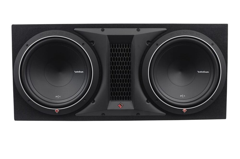 rockford fosgate punch p1 2x12 dual 12 1000w loaded. Black Bedroom Furniture Sets. Home Design Ideas