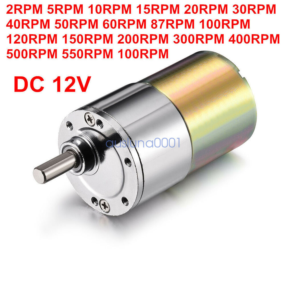 Dc 12v 2rpm 1000rpm powerful high torque electric gear box for Electric motor with gear reduction